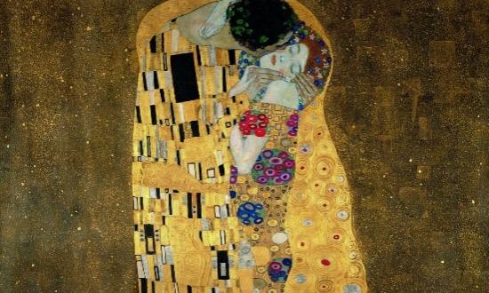 (c) Gustav Klimt, Der Kuss