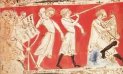 (c) Manuskript 1 z Gottfriedova Tristana, Bayerische Staatsbibliothek